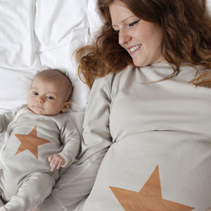 Mum And Baby Matching Star Pyjama Set - 1st mother's day