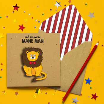 Handmade Funny Father's Day Lion Card