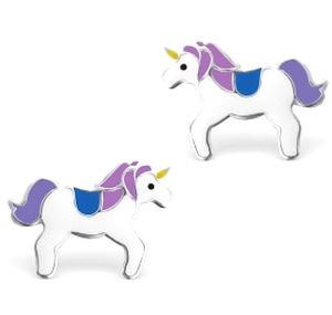 Unicorn Earrings In Sterling Silver - earrings
