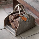 Personalised Tweed Log Carrier