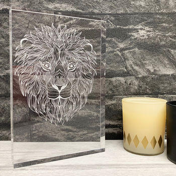 Acrylic Lion Design Artwork
