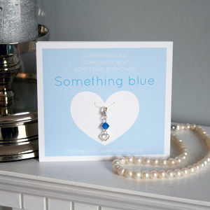 Something Blue Heart Sterling Silver Charm