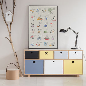 Children's Low Chest Drawers - baby's room