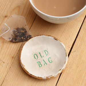 Old Bag Tea Bag Saucer