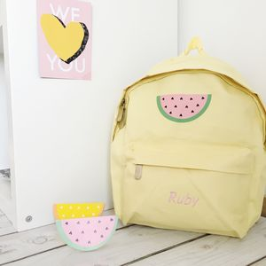 Personalised Children's Melon Backpack - back to school essentials