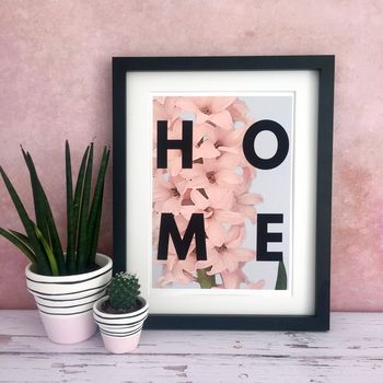 Hyacinth 'Home' Floral Home Print