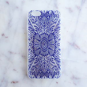 Blue Transparent Rubber iPhone Case