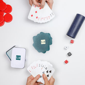 Personalised Foiled Initials Playing Cards