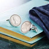 Sixpence Year Coin Cufflinks 1928 To 1967 - anniversary gifts