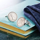 Sixpence Year Coin Cufflinks 1928 To 1967