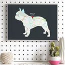 Personalised Map With French Bulldog