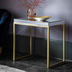 Champagne Glass Mirrored Side Table