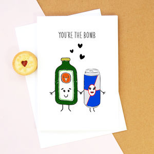 'You're The Bomb' Valentine's Card - valentine's cards