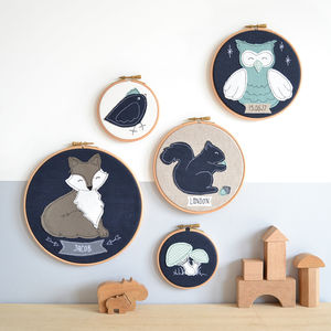 Woodland Animals Personalised Baby Pictures