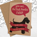 Best Auntie Card With Dog