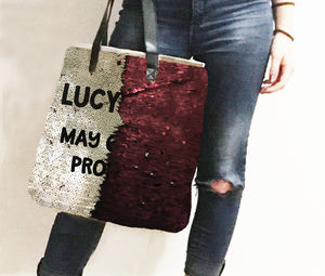 Personalised Sequin Mermaid Reveal Bag Prosecco - new in fashion