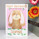 Personalised Bunny Relation Birthday Card