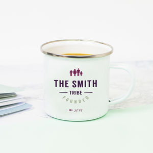 Family Tribe Enamel Mug - mugs