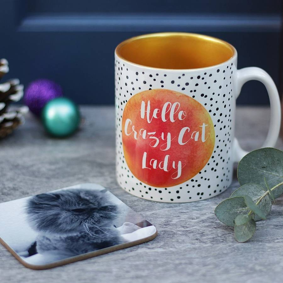 Crazy Cat Lady And Coaster Set