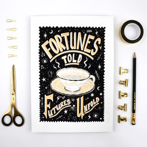 Fortunes Told Screen Print - typography