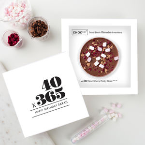 40th Birthday Card And Chocolate Gift