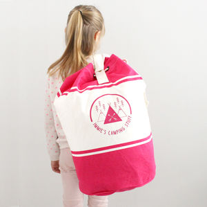 Personalised Camping Duffle Bag
