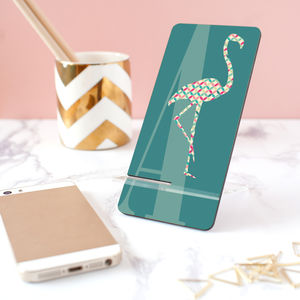 Personalised Monogram Flamingo Silhouette Phone Stand - stylish gadgets and accessories