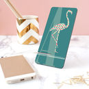 Personalised Monogram Flamingo Silhouette Phone Stand
