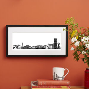 Newcastle Skyline Screen Print