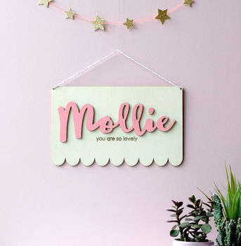 Personalised Children's Name Sign