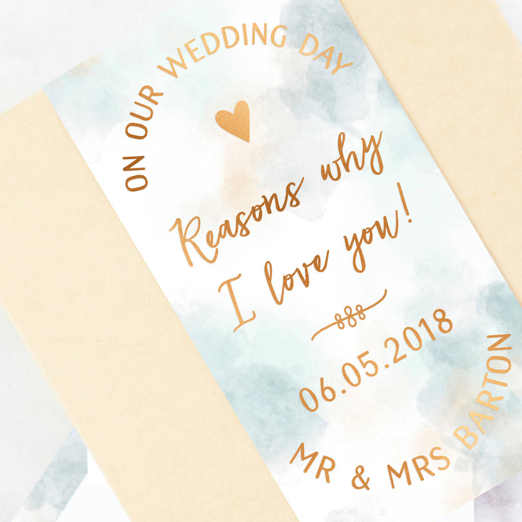 Wedding Gift For Husband On Wedding Day: Husband Wedding Day Gift Reasons I Love You By Norma