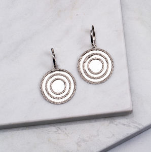 Echo Disc Drop Earrings - earrings