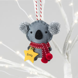 Koala Personalised Christmas Decoration - tree decorations
