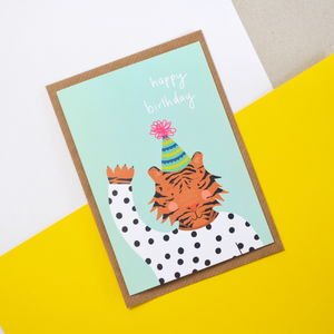 Children's Tiger Birthday Card