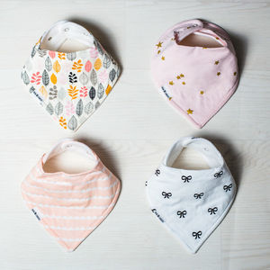 Blush And Bloom Bandana Bib Gift Set - baby care