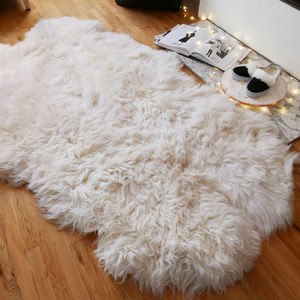Xl Large Sheepskin Rug - bedroom