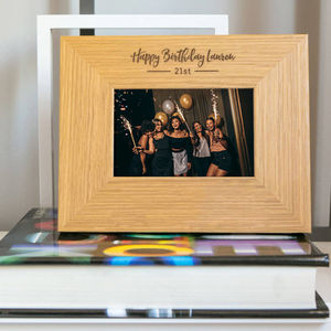 Personalised Birthday Picture Frame - picture frames