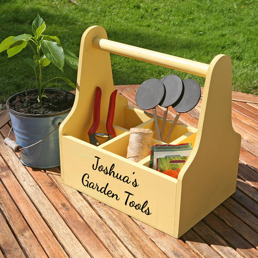 personalised garden caddy by plantabox notonthehighstreetcom