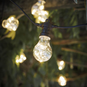 Copper LED Wire Filled Festoon Lights - outdoor lights