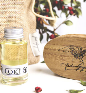 Loki Beard Oil And Brush Gift Set - men's grooming & toiletries