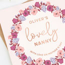 Nanny Mother's Day Card Personalised