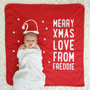 Personalised Santa Hat Baby Christmas Blanket