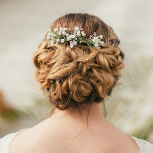 Eva Gypsophila Hair Comb - wedding fashion