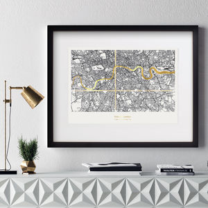Personalised London Coordinates Map - gifts for couples