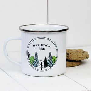 Personalised Forest Enamel Mug - what's new