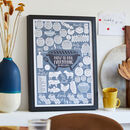 Personalised How To Bbq Everything Kitchen Print