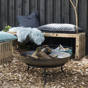 Large Contemporary Fire Pit On Stand