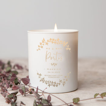 Wedding Gift Glow Through Luxury Candle