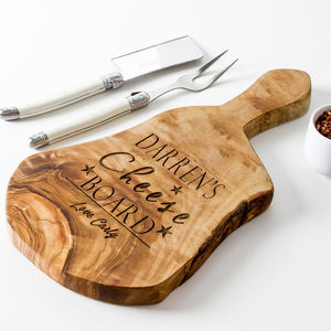 Personalised Natural Cheese/Chopping Board