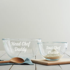 Personalised Father's Day Mixing Bowl Set - kitchen accessories